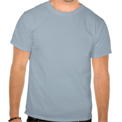 Cute Blue Cartoon Big Cuddly Bear Shirt