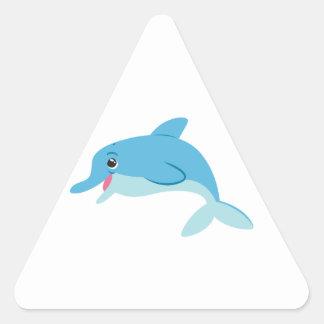 Cute Blue Cartoon Bottlenose Dolphin Stickers