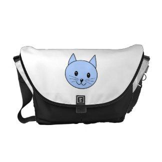 Cute Blue Cat. Courier Bag