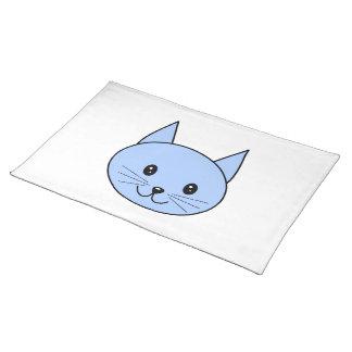 Cute Blue Cat. Placemat