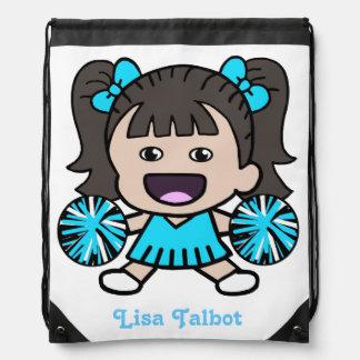 Cute Blue Cheerleader Backpack