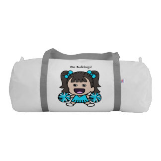 Cute Blue Cheerleader Duffel Bag Gym Duffel Bag