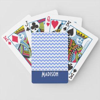 Cute Blue Chevron Pattern Card Decks