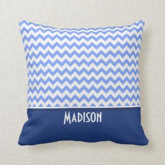 Cute Blue Chevron Pattern Pillows