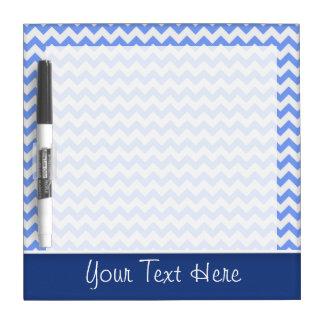 Cute Blue Chevron Pattern Dry-Erase Boards