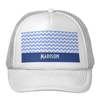 Cute Blue Chevron Pattern Trucker Hat