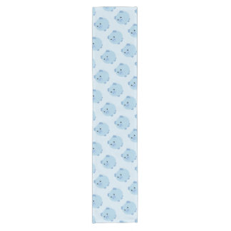 Cute Blue Chubby Pig Table Runner