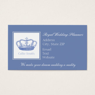 Cute Blue Crown Business Card