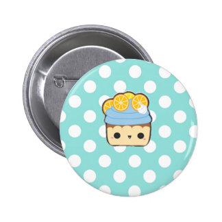 Cute blue cupcake button botones