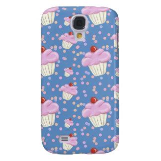 Cute Blue Cupcake Pattern Galaxy S4 Case