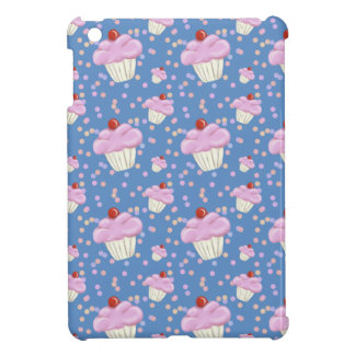 Cute Blue Cupcake Pattern Case For The iPad Mini
