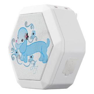 Cute Blue Dachshund White Boombot Rex Bluetooth Speaker