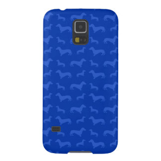 Cute blue dachshund pattern cases for galaxy s5