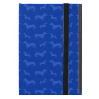 Cute blue dachshund pattern cover for iPad mini