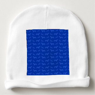 Cute blue dachshund pattern baby beanie