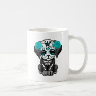 Cute Blue Day of the Dead Puppy Dog Coffee Mug