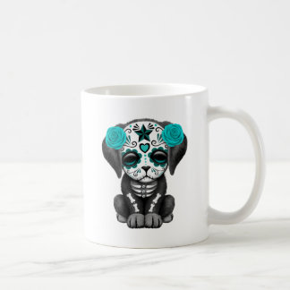 Cute Blue Day of the Dead Puppy Dog Classic White Coffee Mug
