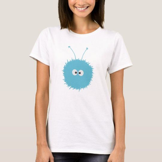 Cute Blue Dazzled Bug Female T-Shirt