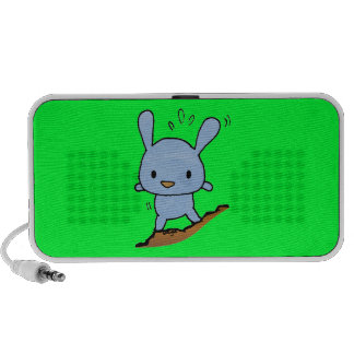 Cute Blue Doggy Notebook Speakers