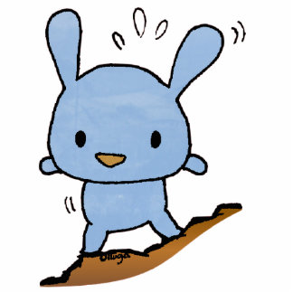 cute blue Doggy Standing Photo Sculpture