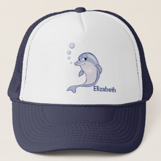 Cute Blue Dolphin To Personalize Trucker Hat