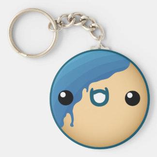 Cute Blue Donut Key Ring