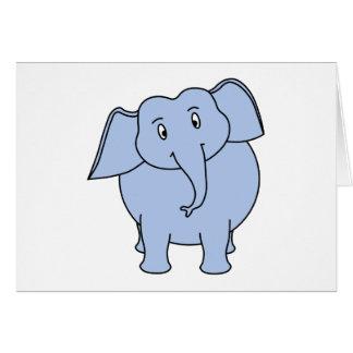 Cute Blue Elephant Cartoon. Card