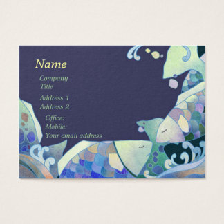 Cute Blue Fish Sushi Chef Business Cards