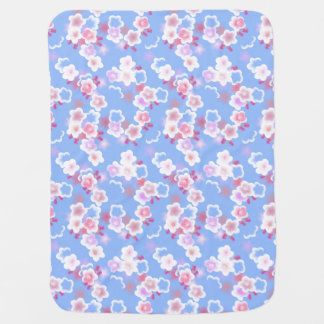Cute blue floral baby blanket