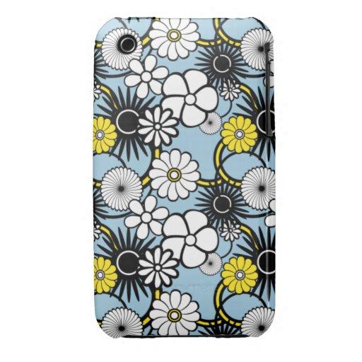 Cute Blue Flower Pattern ipod touch case