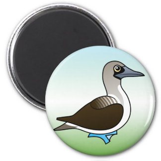 Cute Blue-footed Booby 6 Cm Round Magnet