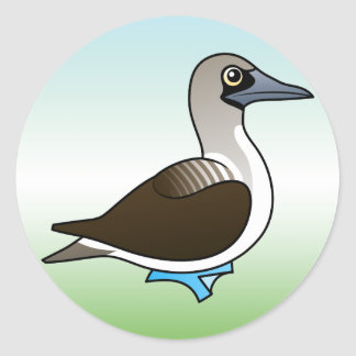 Cute Blue-footed Booby Round Sticker