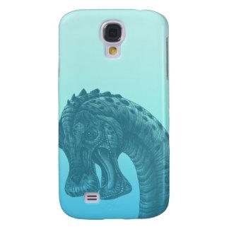 Cute Blue Geek Dinosaur Galaxy S4 Case