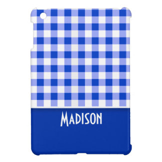 Cute Blue Gingham; Checkered Cover For The iPad Mini