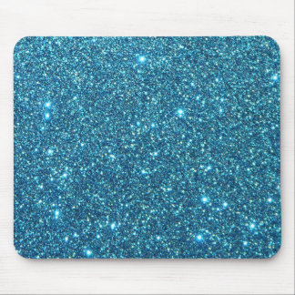 Cute Blue Glitter Sparkles Mouse Mat