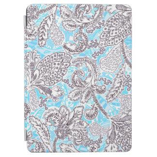 Cute blue gray classic floral iPad air cover