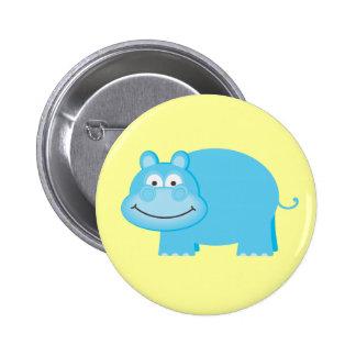 Cute Blue Hippo Pin