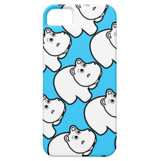 Cute Blue Hippo Barely There iPhone 5 Case