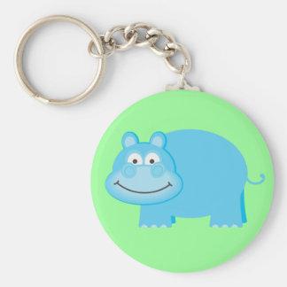 Cute Blue Hippo Keychains