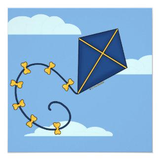 Cute Blue Kite Invitations
