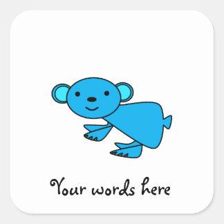 Cute Blue koala Square Sticker