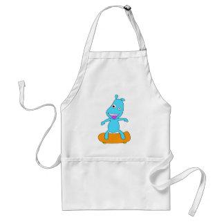 cute blue monster standard apron