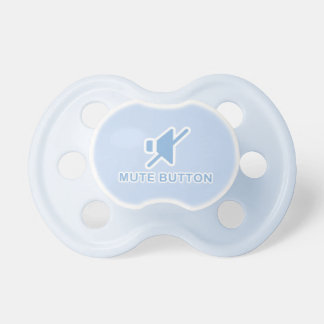 Cute Blue Mute Button Binky Pacifier