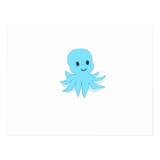 Cute Blue Octopus Postcard