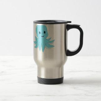 Cute Blue Octopus Travel Mug