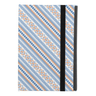 Cute blue orange Aztec Tribal Motif Pattern iPad Mini 4 Case