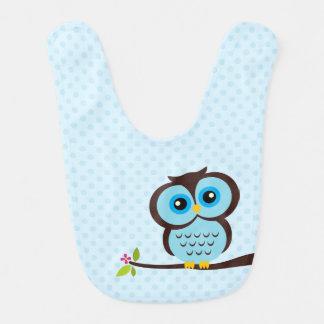 Cute Blue Owl Bib