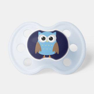 Cute Blue Owl Binky Dummy