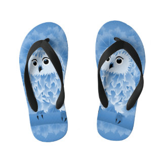 Cute Blue Owl Flip Flops