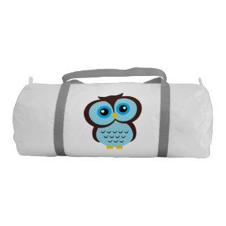 Cute Blue Owl Gym Duffel Bag